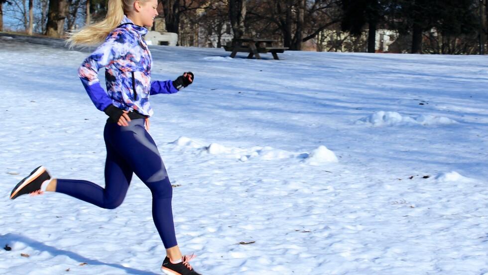INTERVALLØPING: Personlig trener og løpecoach Hedvig Bang sverger til intervaller når hun skal ut å løpe. Foto: Privat