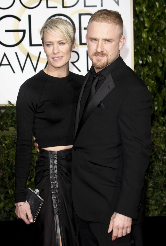 """14 ÅRS ALDERSFORSKJELL: Robin Wright og Ben Foster ble sammen i fjor, men møttes allerede i 2011 da de spilte i filmen """"Rampart"""". Wright var tidligere gift med Sean Penn.  Foto: /All Over Press"""