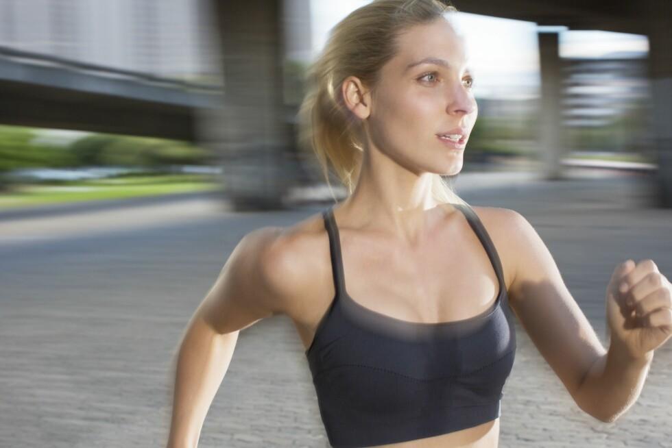 TRENING OG KOSTHOLD: Trening og kosthold har mye å si for brystene dine.  Foto: REX/Caiaimage/All Over Press