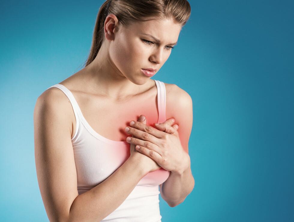 HJERTEBANK: Er du urolig for hjertet ditt? Stort sett er det å kjenne harde slag nesten aldri farlig.  Foto: Fotolia