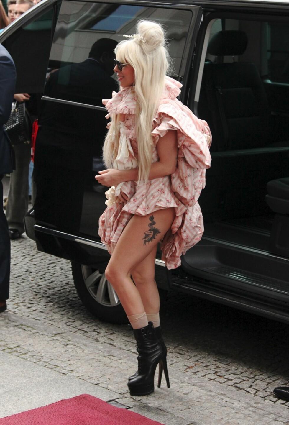 I 2013 kombinerte hun skyhøye hæler med superkort kjole.   Foto: All Over