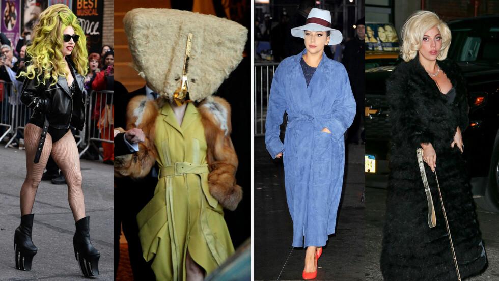 FRA UTAGERENDE TIL DAMETE: Lady Gaga har lagt om helt i klesveien. Foto: All Over
