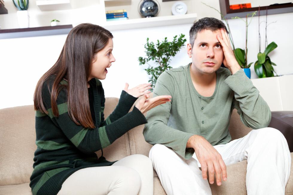 IKKE TVING HAN: Dersom du tvinger partneren din til å gjøre noe han er ukomfortabel med kan det resultere i at han blir enda mer lukket.  Foto: Ana Blazic Pavlovic - Fotolia
