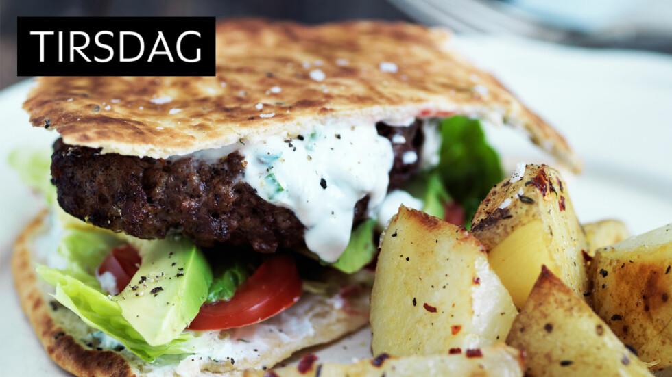 KRYDRET FAVORITT: Familiefavoritt! Herlig burger med litt krydderspiss på. Foto: All Over Press