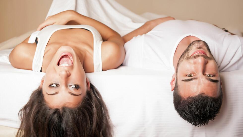 FLAUT: Noen kvinner synes det er flaut at det kommer vaginale lyder når de har sex, mens andre bare ler av det.  Foto: Fotolia