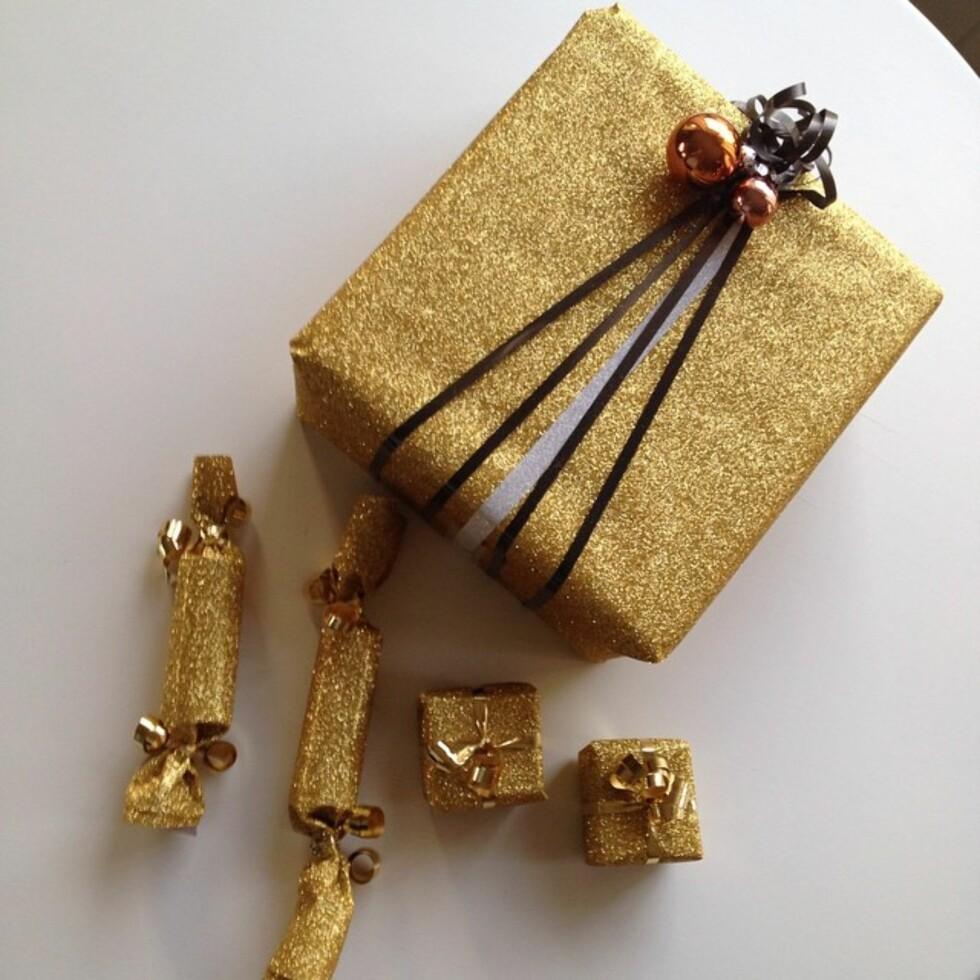 GULL OG GLITTER: Mariann Stav har en ting for gull!  Foto: Instagram