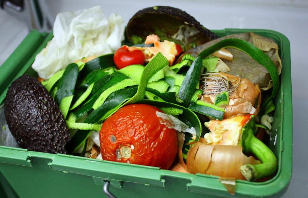 KASTER 300.000 TONN I ÅRET: Nordmenn er blant verstinger når det gjelder å kaste mat, og mesteparten er i stor grad fortsatt spiselig. Bruk derfor nesa før du ukritisk kaster mat, og bruk det du har. Foto: Thinkstock.com