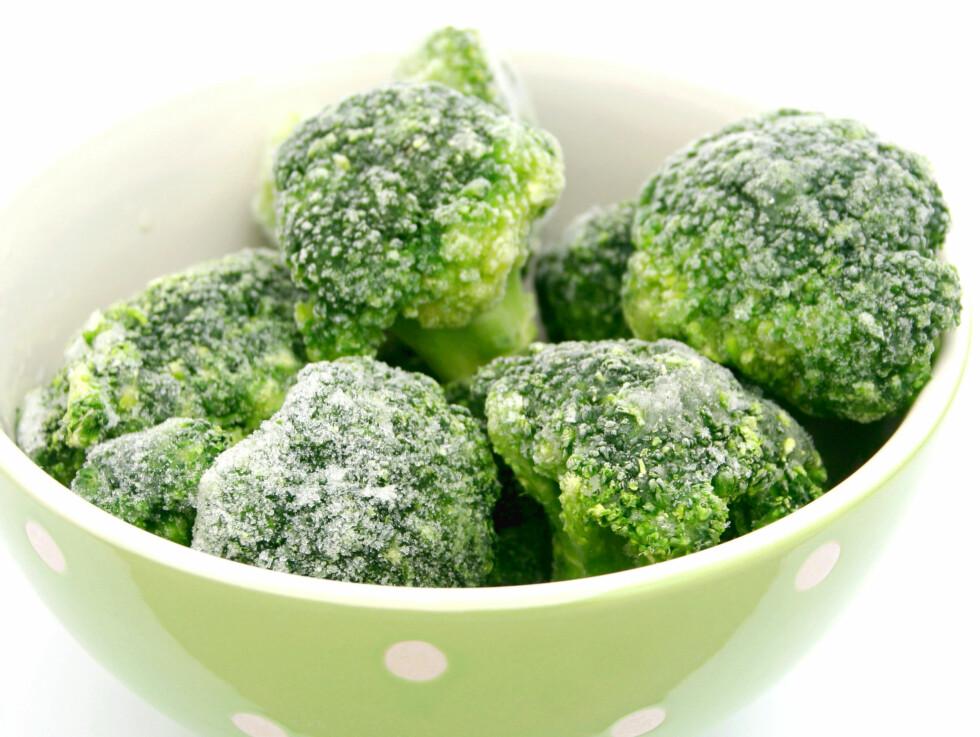 VELG GJERNE FROSSENT: Det er slett ikke noe mindre næringsrikt enn de ferske grønnsakene - snarere tvert i mot! Foto: Thinkstock.com