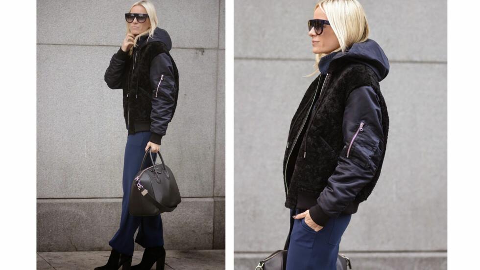 BLOGGSTIL: La deg inspirere av Celine I. Aagaards stilige og avslappede vinterantrekk.  Foto: Hippiehippiemilkshake.blogpost.no