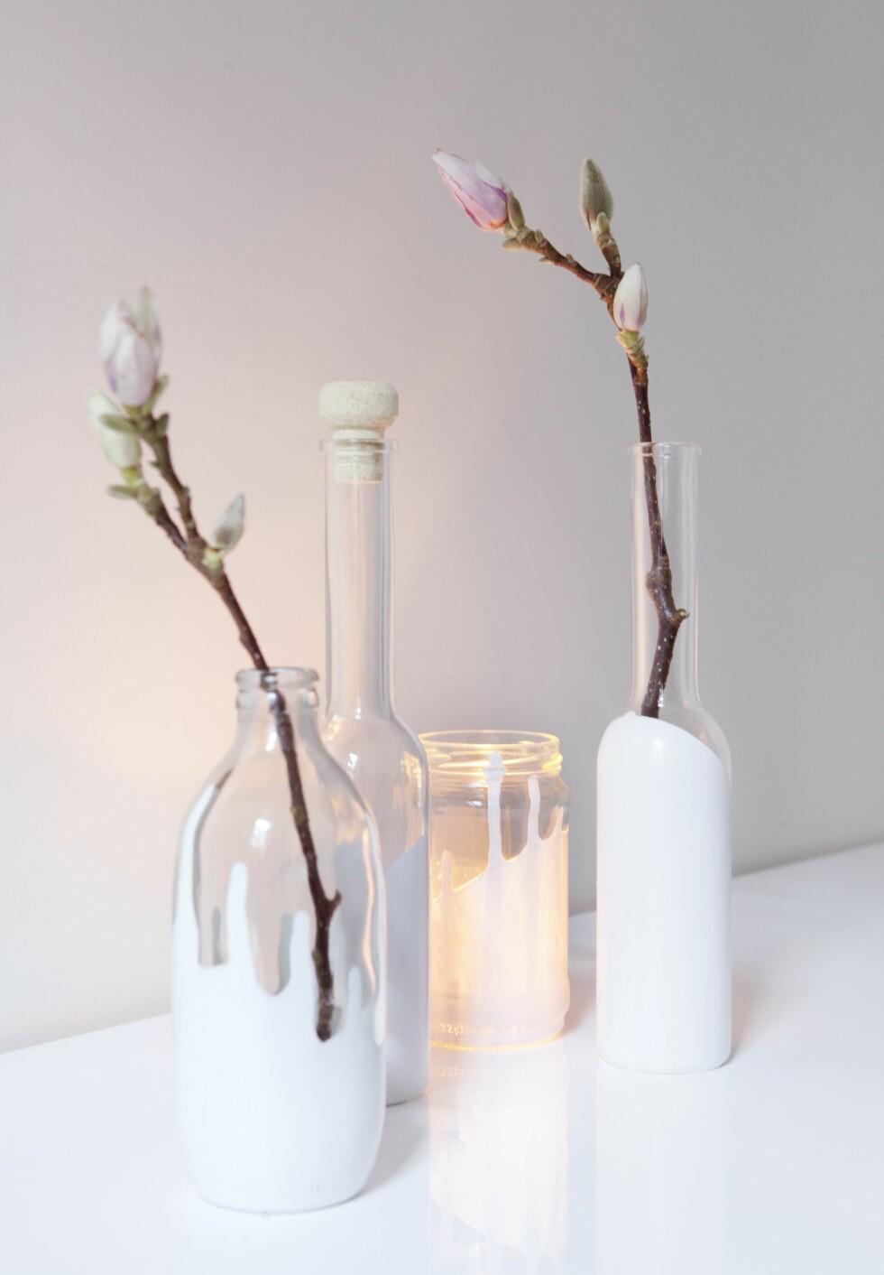 JULEGAVETIPS 1: Vaser dyppet i maling er fine gaver du kan gi til dine nære og kjære!     Foto: All Over Press/ Yvonne Wilhelmsen