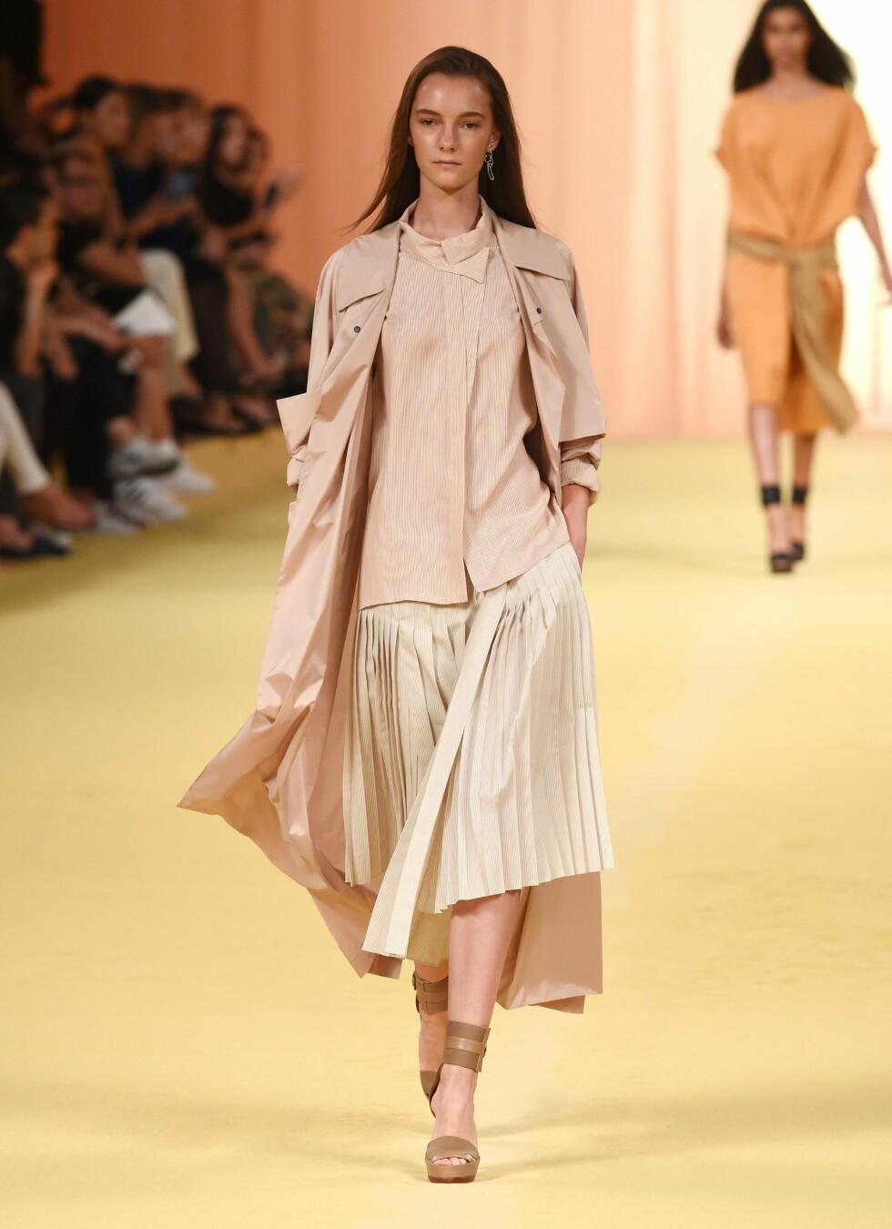 BLEK MEN FATTET: Hermès vil også ha det så nøytralt så mulig i 2015. Foto: REX/David Fisher/All Over Press