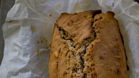 FIN FROKOST: Søtt og saftig: Gittes bananbrød! Foto: Sara Johannessen / KK