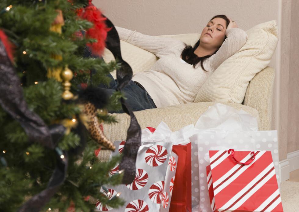 UTMATTELSE: Dersom du lar stresset ta helt overhånd i desember kan du ende opp med å være helt utslitt på julekvelden.  Foto: (c) Vstock LLC/Tetra Images/Corbis/All Over Press