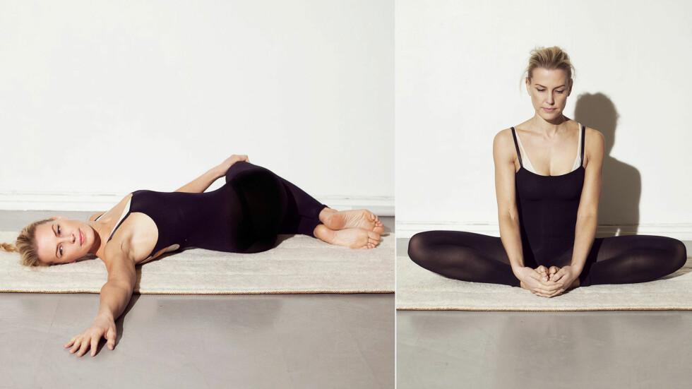 SLAPP AV I 3 TRINN: STYLEmag-blogger og yoga-instruktør Vibeke Klemetsen deler sine tre beste yogaøvelser for å koble av.  Foto: Janne Rugland