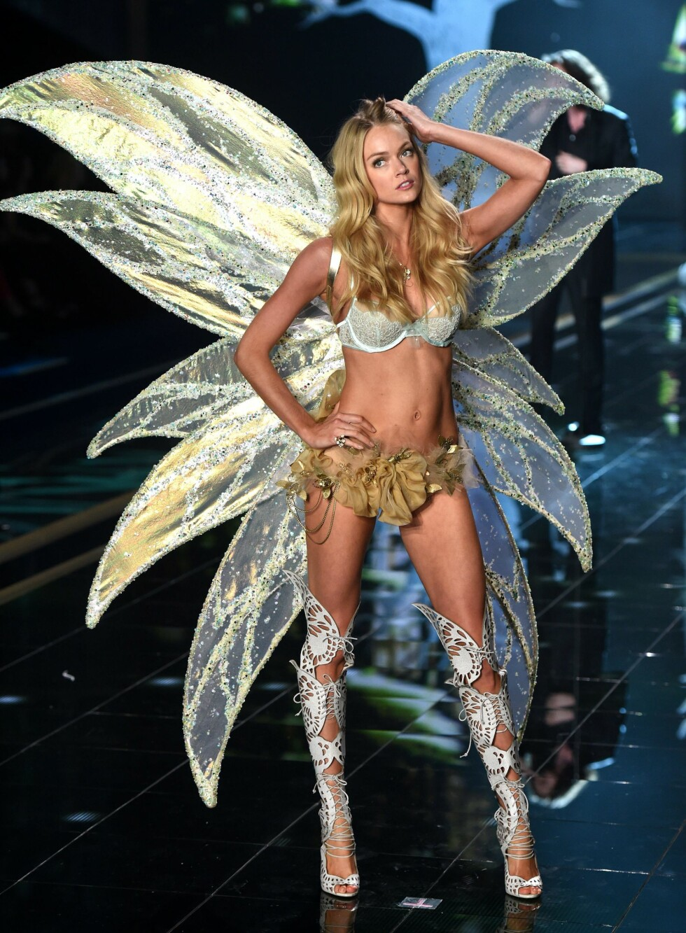 Lindsay Ellingson i et alveinspirert antrekk. Foto: REX/David Fisher/All Over Press