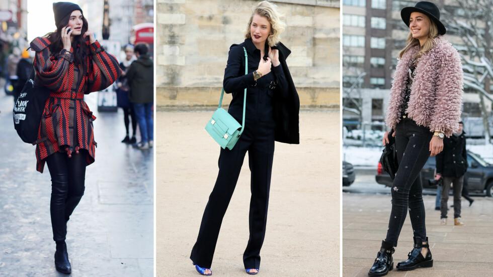 HØSTINSPIRASJON: La deg inspirere av fashionistaene fra verdens motemetropoler og kle deg kult i høst!  Foto: All Over