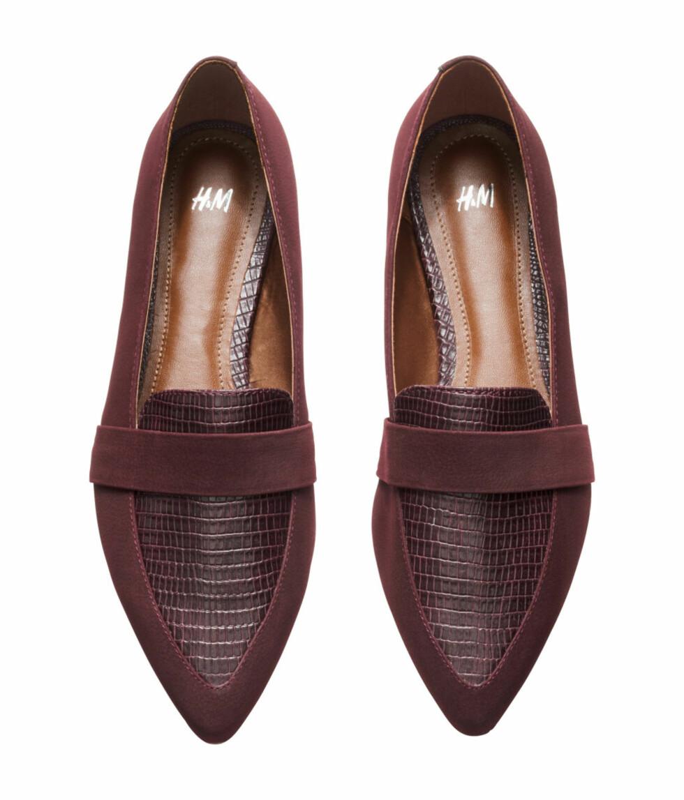Loafers fra H&M, kr 249.  Foto: Produsentene