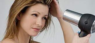 Jo, du kan føne håret hver dag