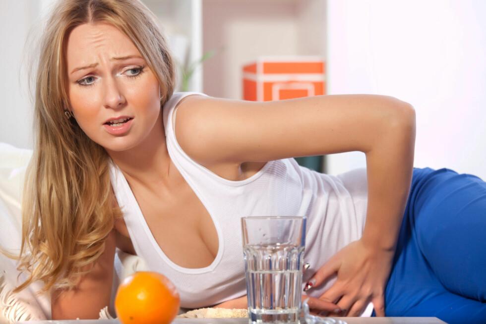 AU: Luft i magen etter å ha spist? Det kan være maten, eller måten du spiser/drikker på, som er årsaken... Foto: Thinkstock