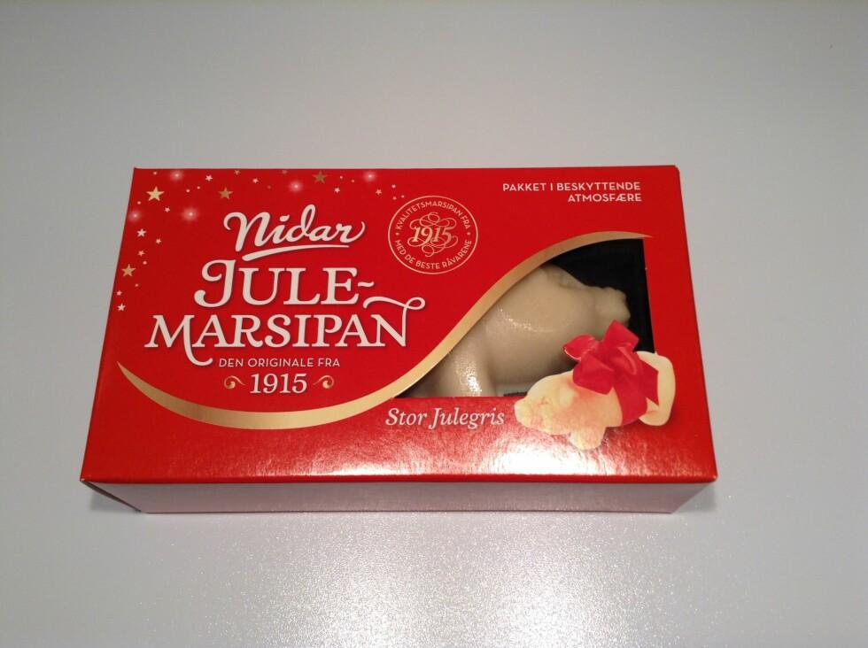 JULEFAVORITT: Nordmenn spiser mye marsipan i jula, og det er den klassiske grisen som er favoritten. Foto: Stine Helén Tunstrøm