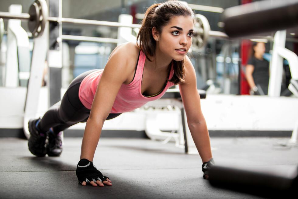 TREN DE STORE MUSKELGRUPPENE: Det er nemlig slik at jo større muskelgrupper du involverer i treningen, jo høyere forbrenning får du.  Foto: AntonioDiaz - Fotolia