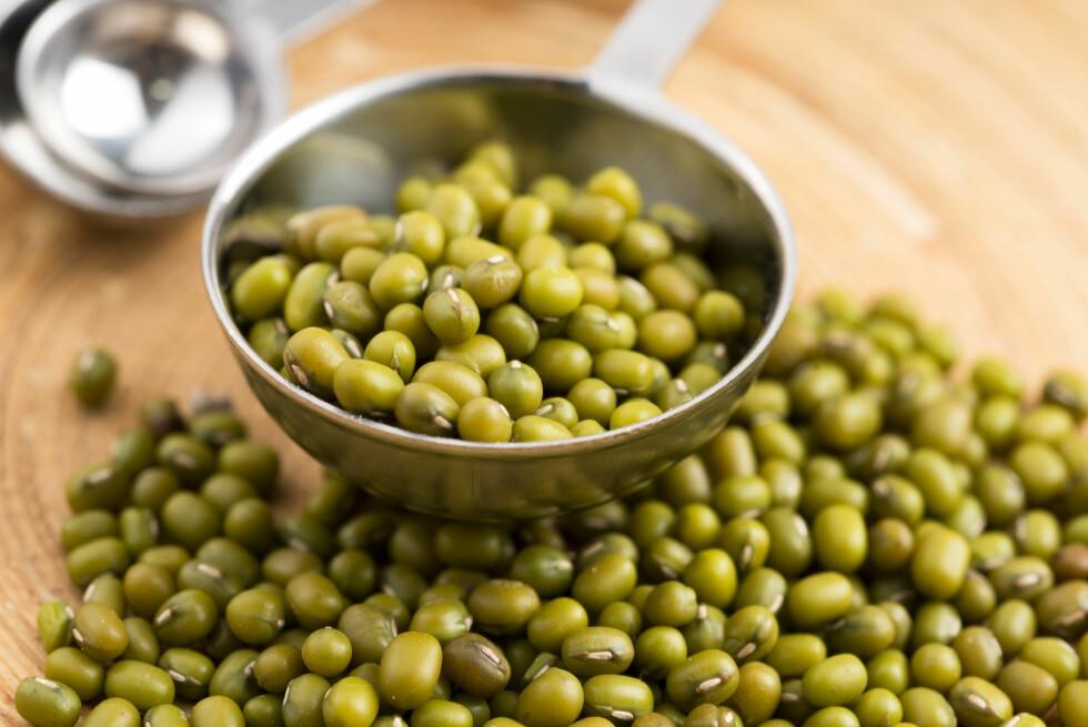 MUNGBØNNER: Mungbønner er proppfulle av en rekke næringsstoffer som er gunstige for oss kvinner.  Foto: joanna wnuk - Fotolia