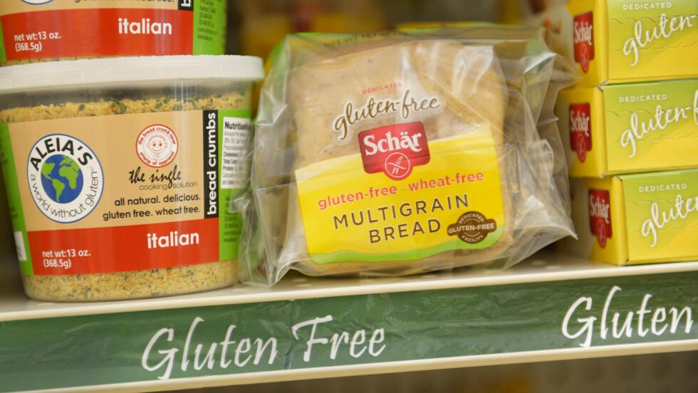 TRENDY: Cirka 400.000 nordmenn som ikke reagerer på gluten kjøpte glutenfrie matvarer i fjor.  Foto: Martin Shields / Alamy/All Over Press