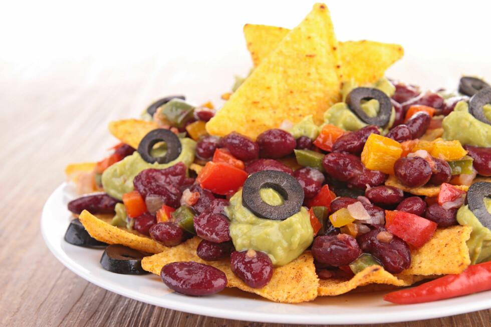 I TACO: Bønner er perfekte å bruke i tacos - og setter en ekte meksikansk smak på retten.  Foto: M.studio - Fotolia