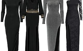 Sats på kjole med splitt i år