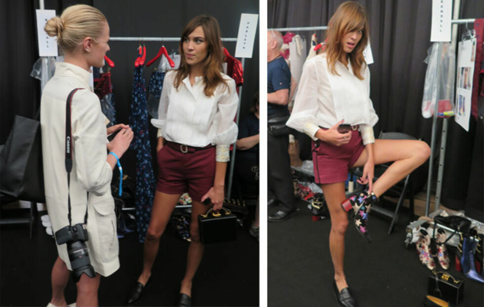 STYLEmag møtte Alexa Chung backstage