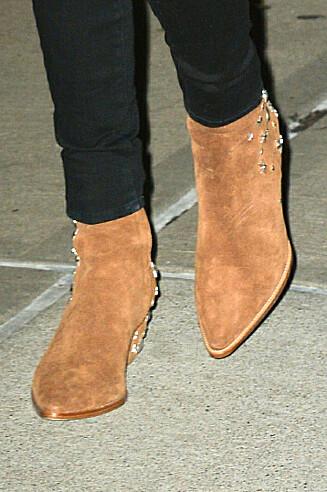 MED STJERNER: Kate Bosworth i et par boots som ligner veldig på de vi har sett så langt fra Matisse-kolleksjonen. Foto: We Dem Boyz / Splash News/ All O