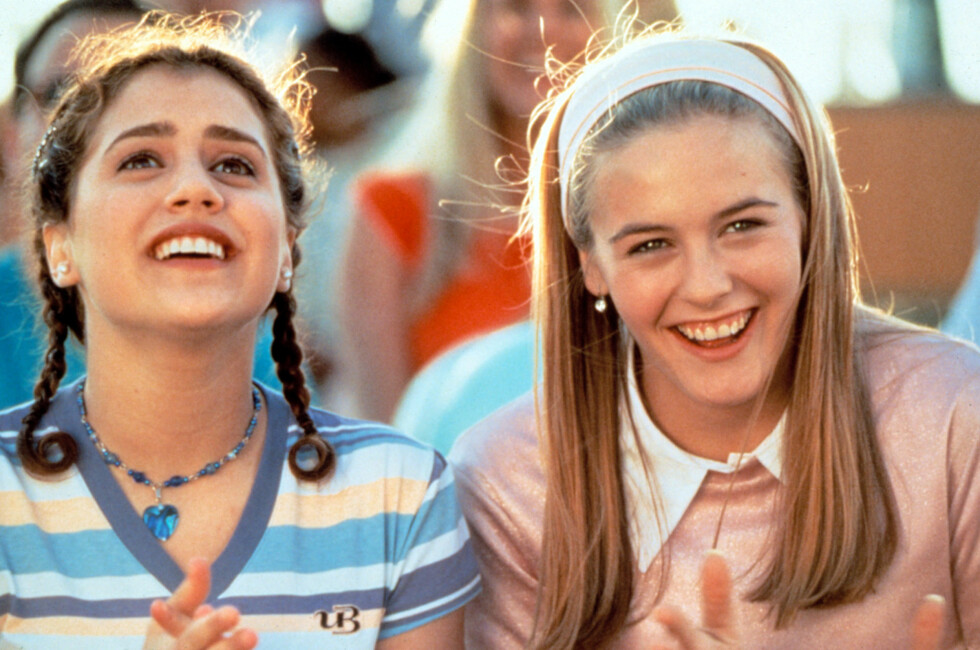 Brittany Murphy hadde på seg fargerike perler i choker-variant i filmen Clueless fra 1995.  Foto: All Over