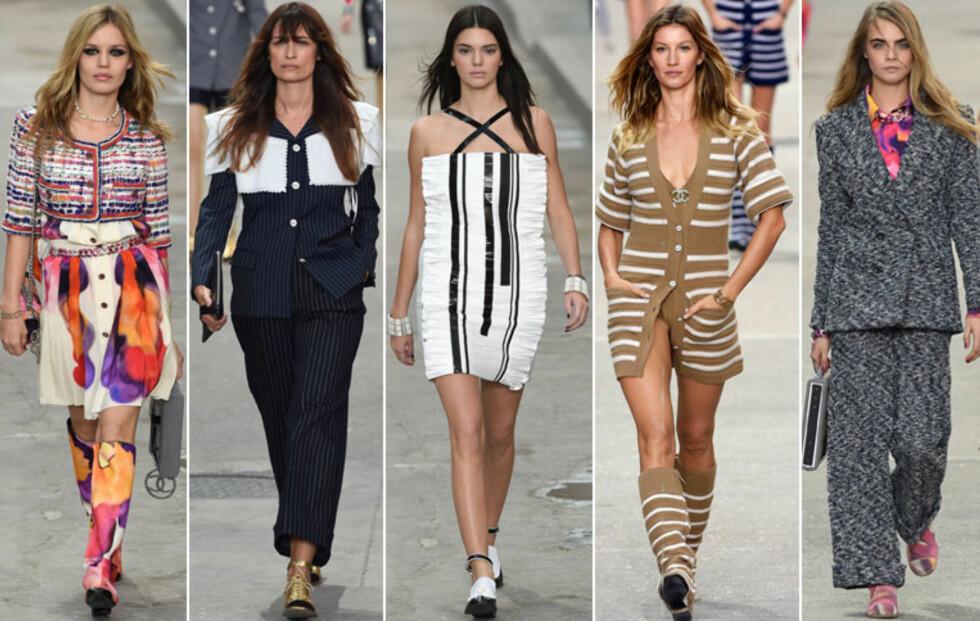 Supermodellene demonstrerte i Boulevard Chanel