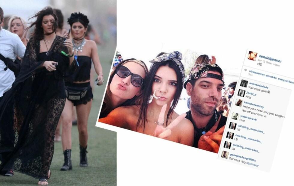 Jenner-søstrene vakte oppsikt på Coachella