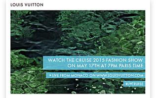 Se Louis Vuitton Cruise-visningen direkte fra Monaco!