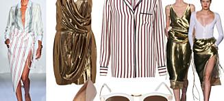 Få den stripete og metalliske catwalk-looken!