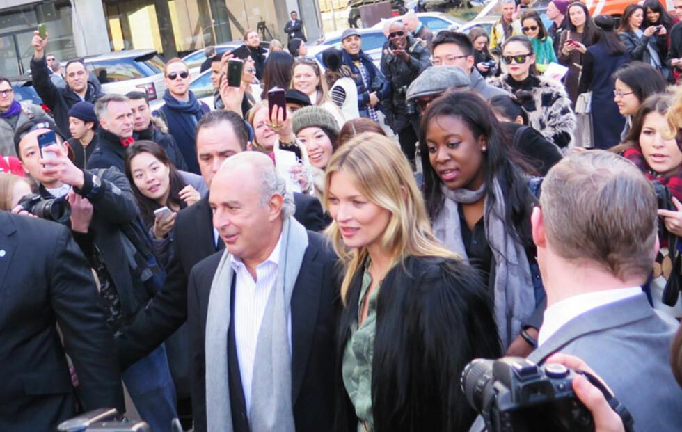 Kate Moss skapte kaos utenfor Topshop-visning!