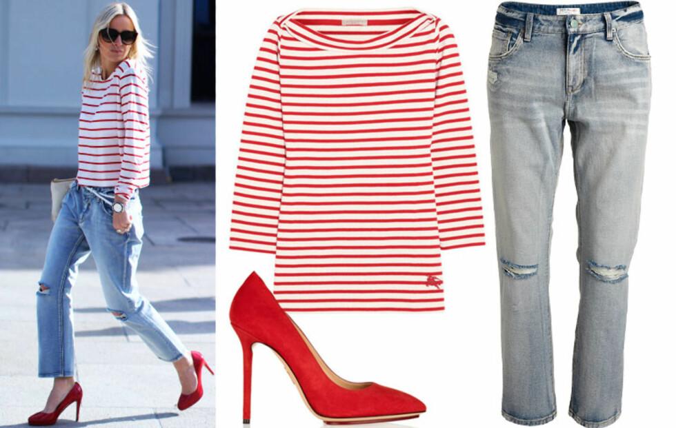 Slik styler Celine striper!