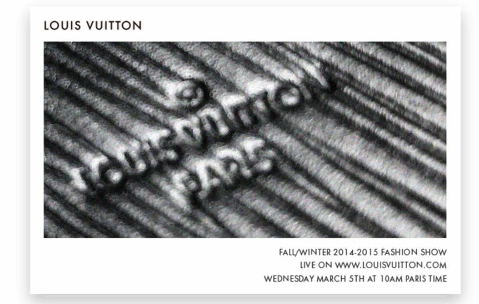 Se Louis Vuitton-visningen direkte fra Paris!