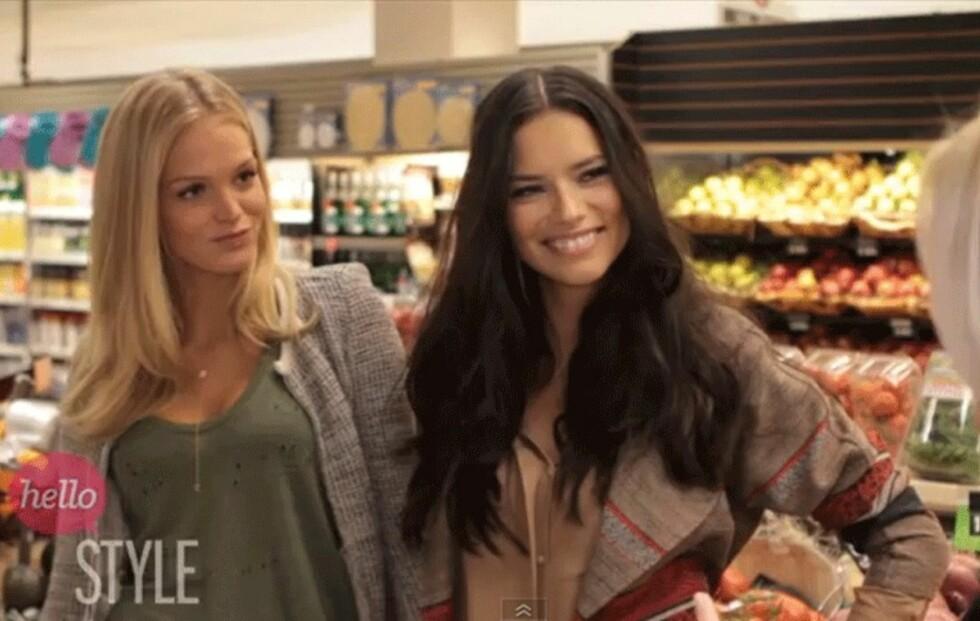 VIDEO: Victorias Secret-englene Adriana Lima og Erin Heatherton avslører matvaner