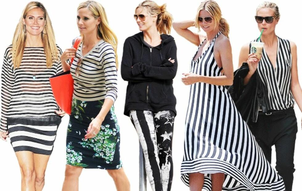 Stjel Heidi Klums stripete stil!
