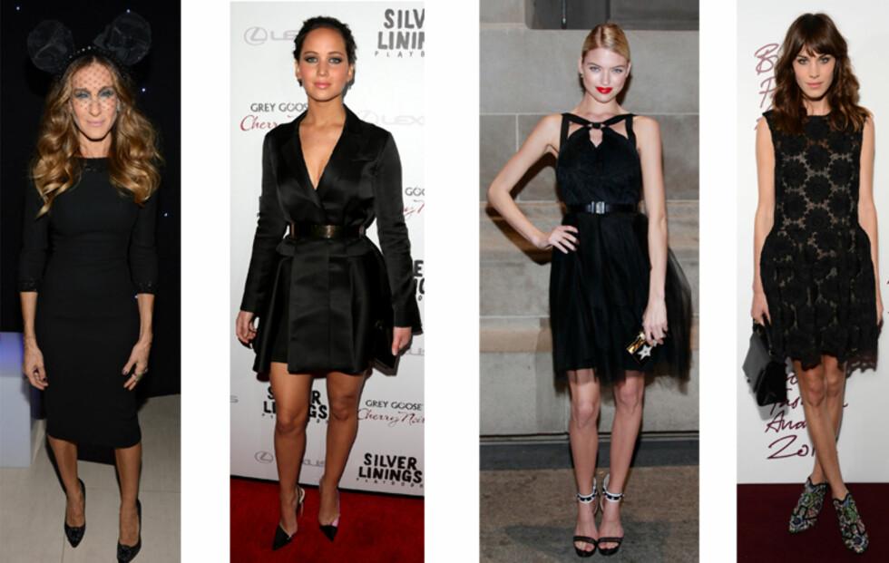 Kjendiser i den lille sorte kjolen