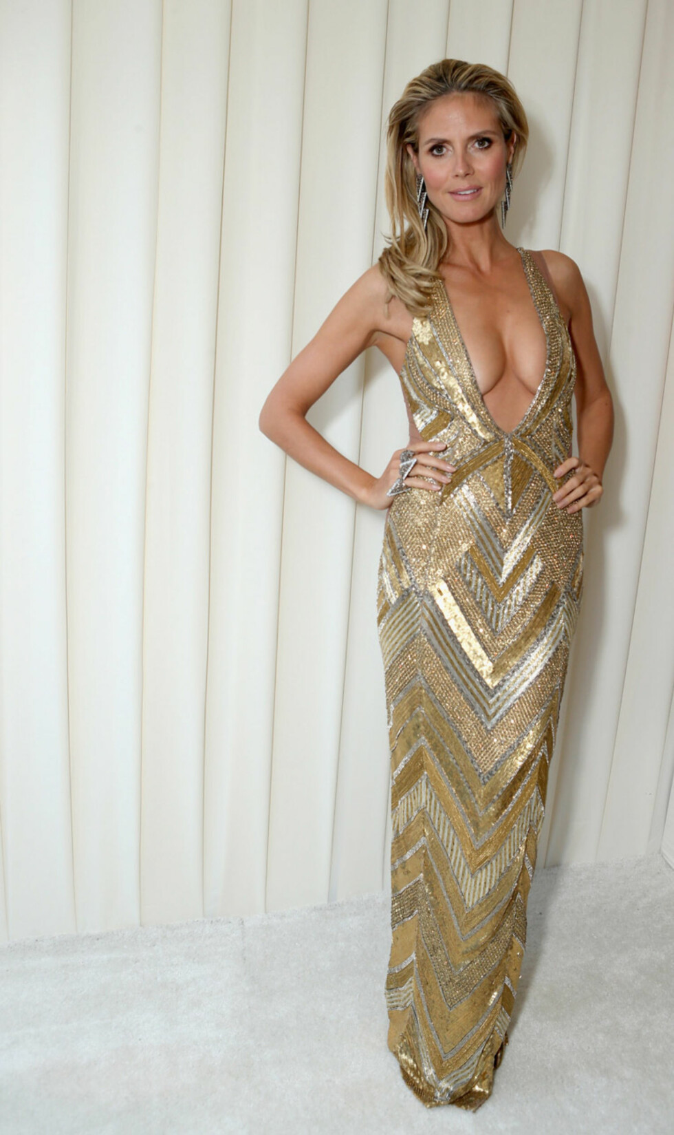 Heidi Klums puppe-display på Oscar-fest