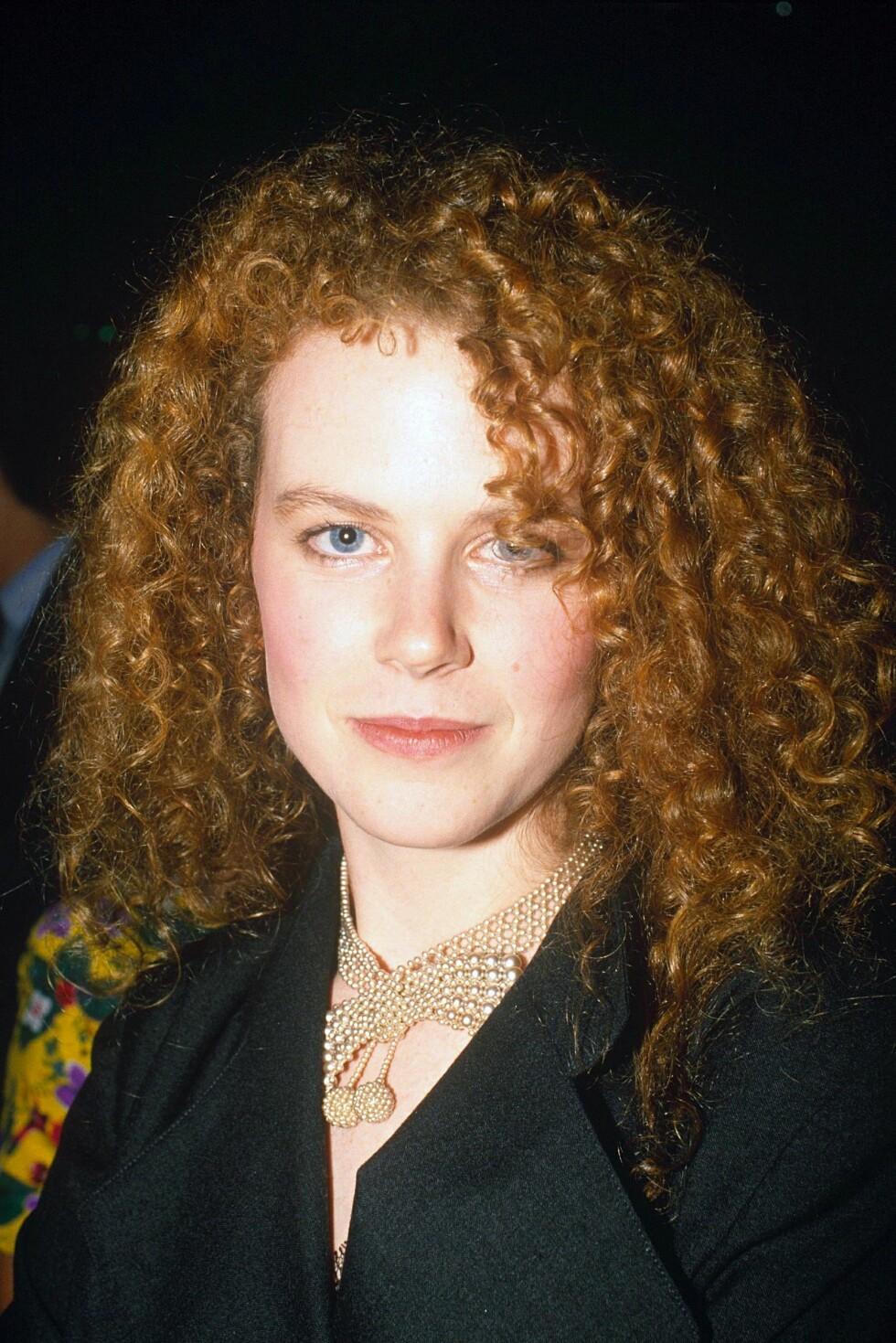 Nicole Kidman tidlig på 1990-tallet.  Foto: REX/BRENDAN BEIRNE/All Over Press