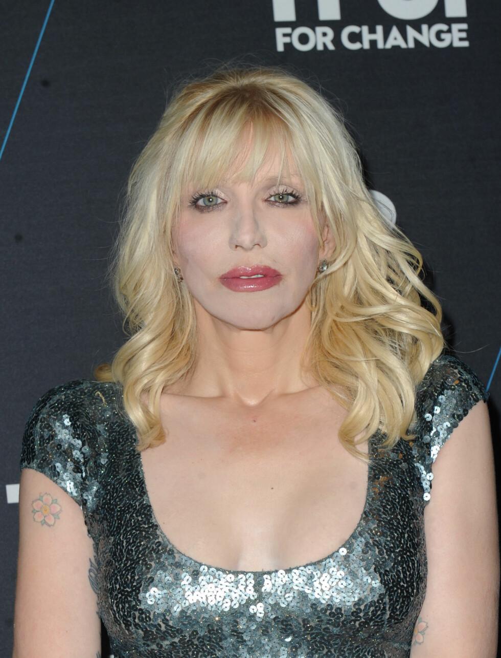 Courtney Love i 2014. Love har tidligere fortalt at hun tatt en ansiktsløftning.  Foto: A. Ariani / Splash News/ All Over Press