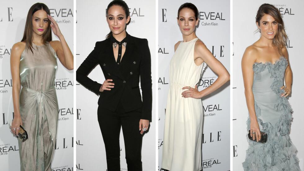 KJENDISMOTE: Sjekk hva stjernene hadde på seg under Elle Women in Hollywood Awards lenger nede i saken! Foto: All Over Press