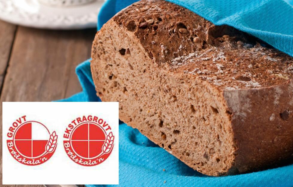 <strong>VELG GROVT:</strong> Den enkleste metoden for å velge riktig brød, er å sikte etter de variantene som fyller 4/4 felt i sirkelen til brødmerkeordninen og se etter nøkkelhullsmerking.  Foto: Thinkstock.com