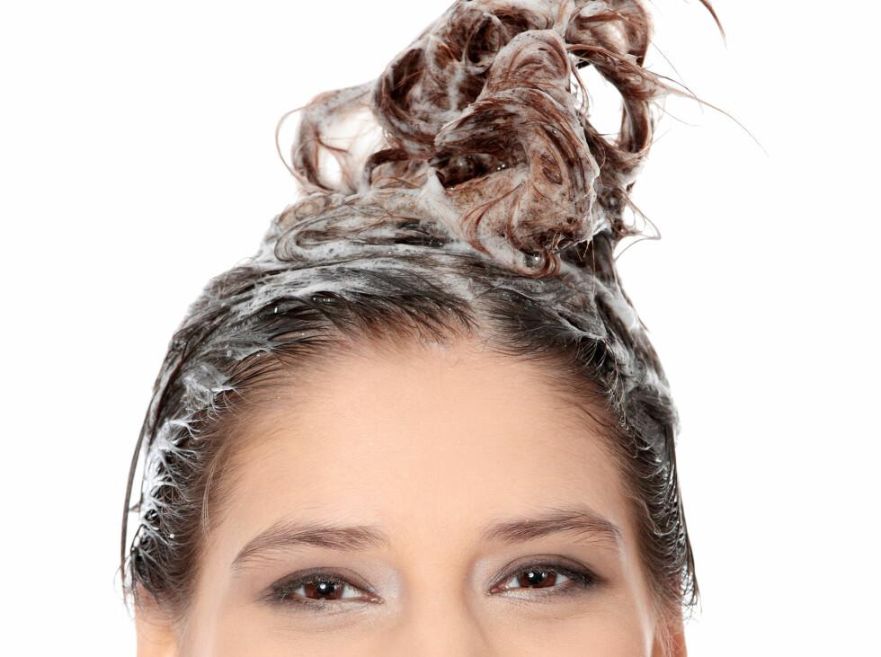 VIRKER UMIDDELBART: Balsamen har faktisk gjort jobben i det den treffer hårstrået, så du trenger faktisk ikke å vente de 2-3 minuttene du kanskje tenker at du burde vente for å la den virke. Da er tida bedre brukt på en god hårkur, forklarer frisøren. Foto: Piotr Marcinski - Fotolia