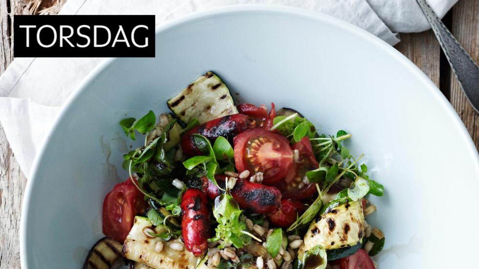 LEKENDE LETT: En enkel salat med masse smak og fylde. Foto: All Over Press