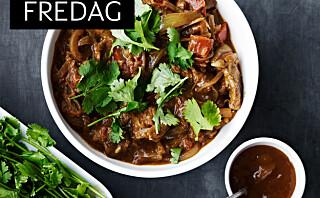 Slowfood - Curry med lam og løksaus
